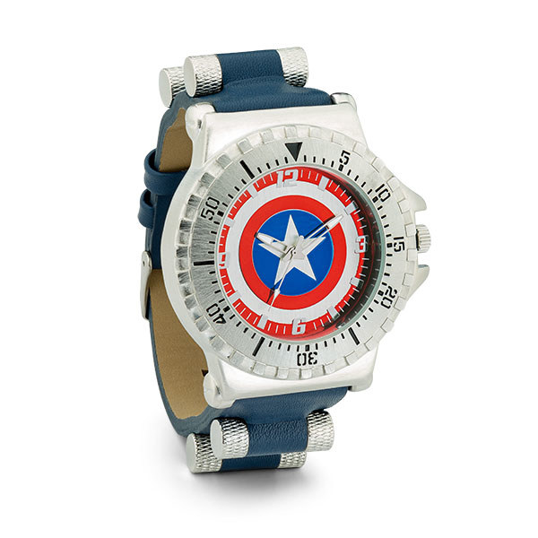 This watch has a faux-leather band and a stainless-steel case.Get it from ThinkGeek for $39.99.