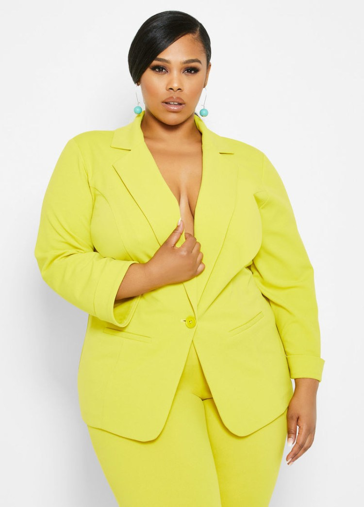 Get it from Ashley Stewart for $49.50 (available in sizes 12-26, and in matching pants).