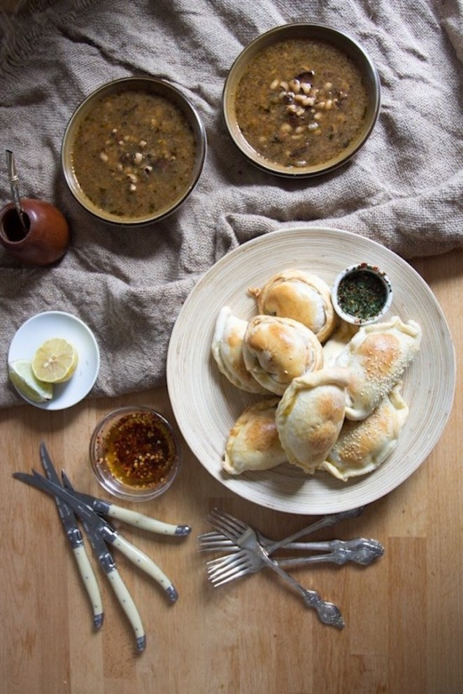 Eating vegetarian never has to be boring. These empanadas have three fillings to choose from and, with a four-ingredient dough, variety couldn't be easier.