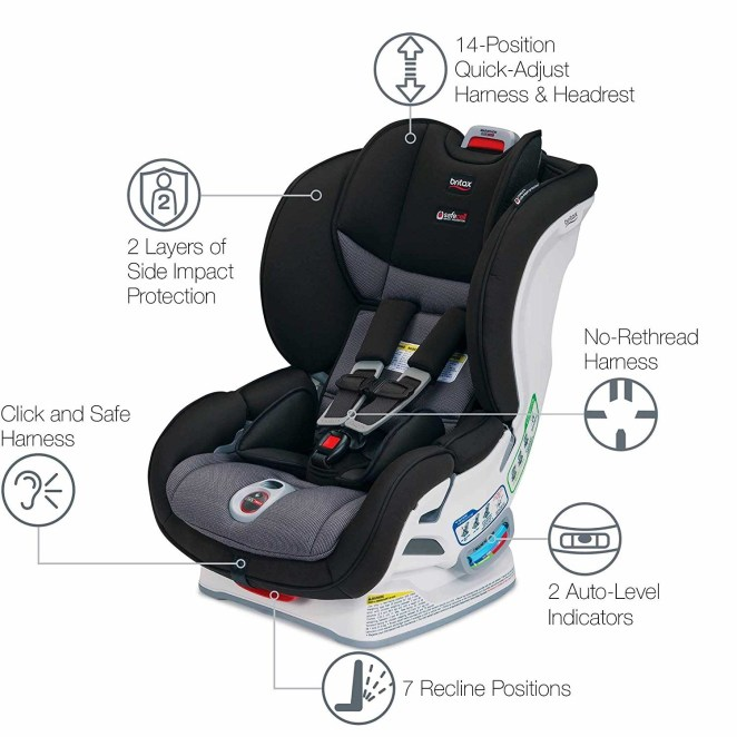 I mean look at all the safety features on that carseat!