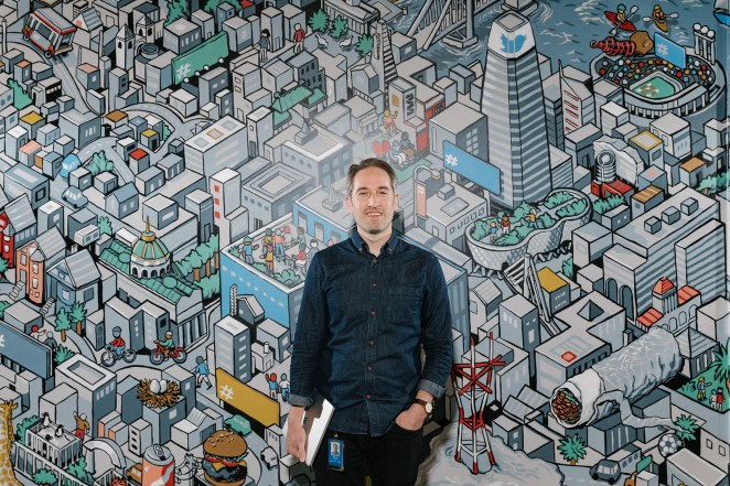Cody Elam, senior user researcher, at the Twitter office in San Francisco, May 8, 2019.