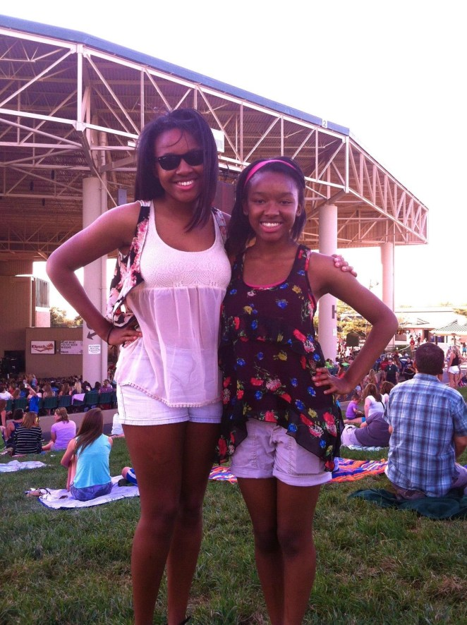 With my sister at a Jonas Brothers concert in Indianapolis in 2013.