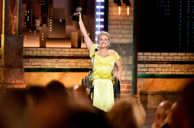 She was also the first wheelchair-using actor to be nominated for a Tony Award.