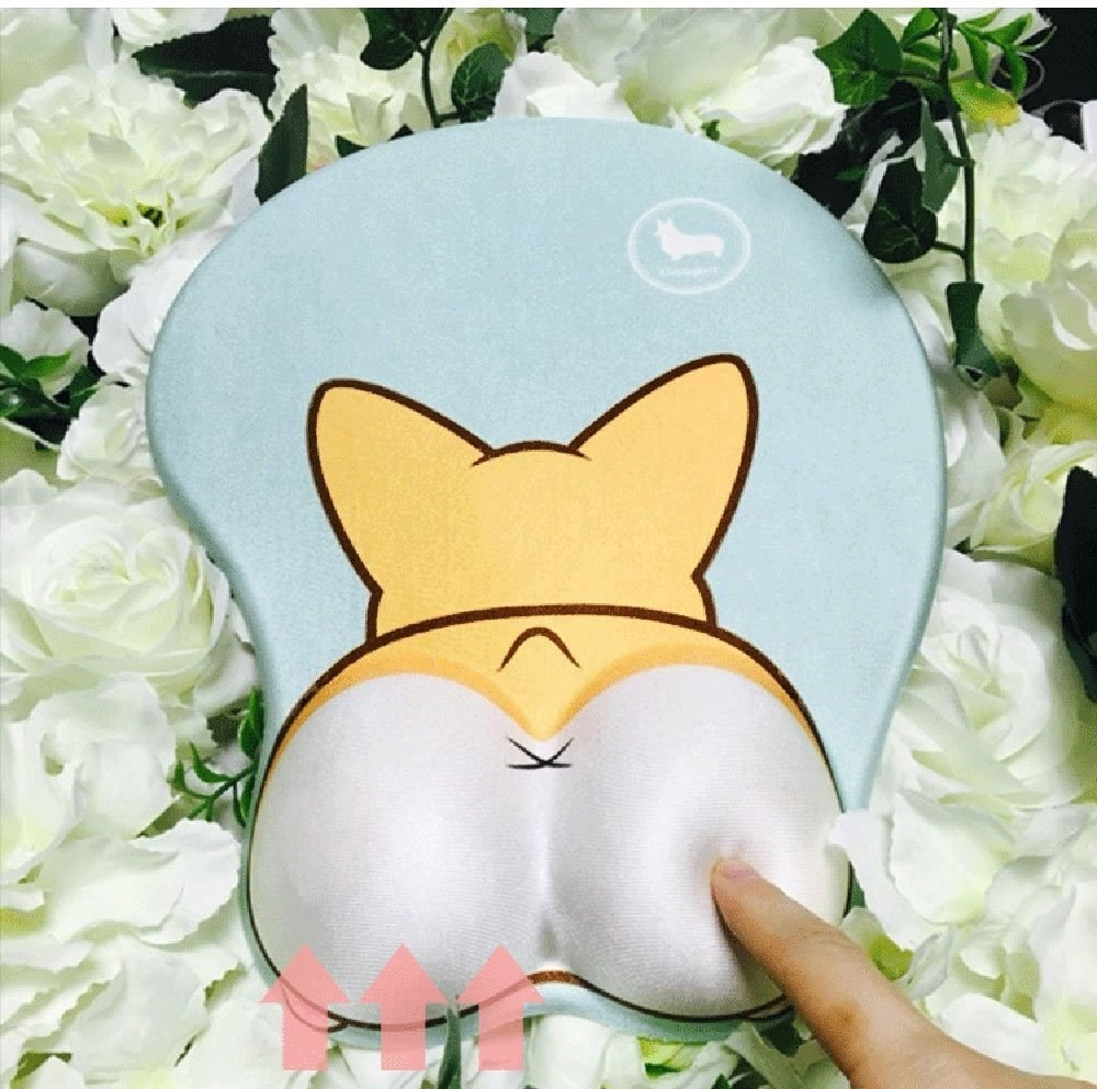"""Promising review: """"I ADORE this mouse pad!!! I work as a software developer and was starting to experience the beginnings of carpel tunnel. This has totally stopped the numbness in my hand! And as a corgi mom of two bouncing corgi boys, this was a must-have!"""" —LPGet it from Amazon for $13.99 (available in two colors)."""