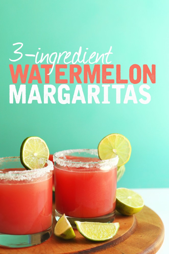 These ditch the traditional liqueur and go straight for the watermelon + tequila + lime combo. And TBH? They're even better that way.Recipe: Easiest Watermelon Margaritas
