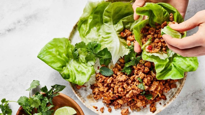 You've probably got the main sauce ingredients — soy sauce and Sriracha (or sambal) — in your kitchen already. Extra hungry? Ditch the lettuce, serve over rice, and top with a fried egg.Recipe: Spicy Chicken Lettuce Wraps