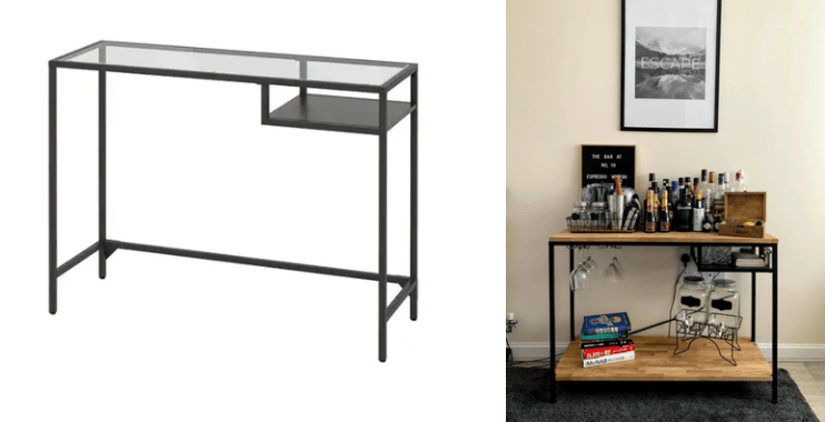 this bar cart ikea furniture hack is