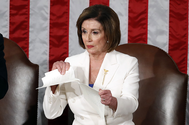 Nancy Pelosi Ripping Up Trump S State Of The Union Speech Became