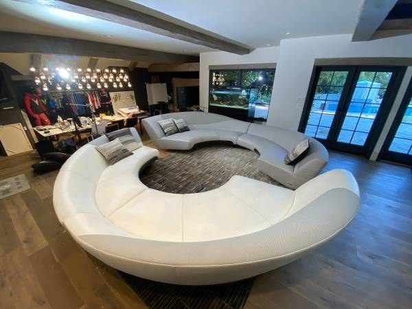 selling his 90k mercedes benz couch