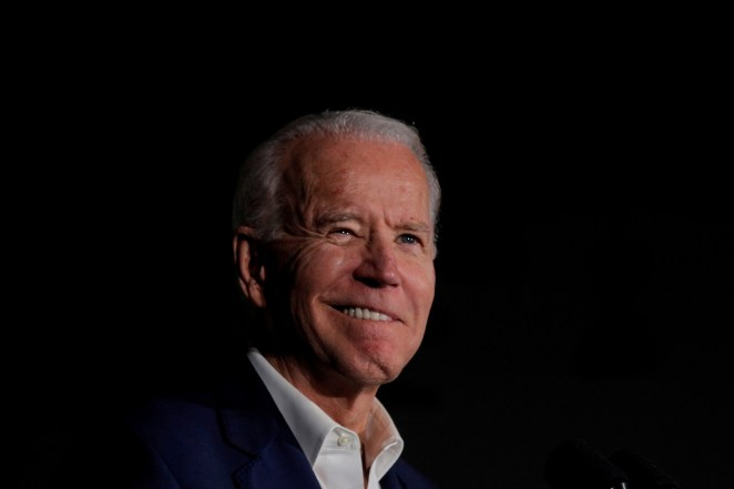 Democratic U.S. presidential candidate and former Vice President Joe Biden.