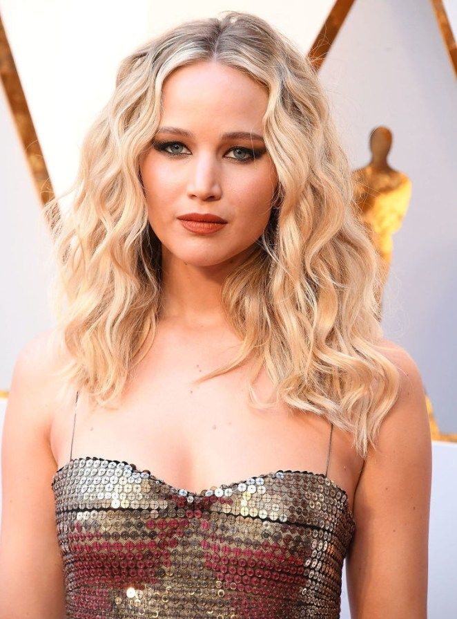 Jennifer Lawrence at the Oscars in 2018