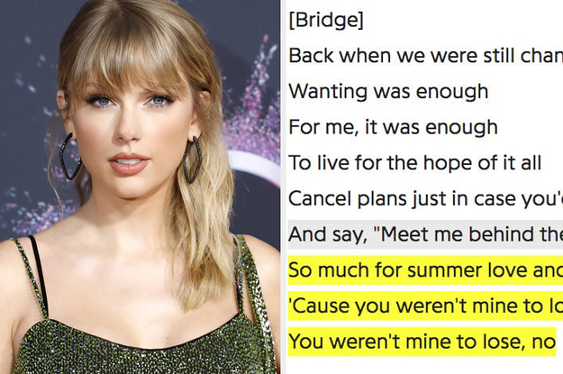 """Taylor Swift Revealed Process Of Writing """"Folklores"""" Teenage Love"""