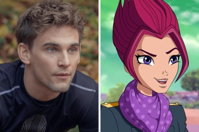 Fate: The Winx Saga Cast Next To The Winx Cartoons