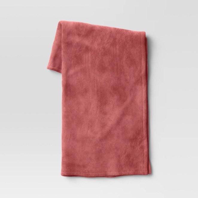 a pink blanket