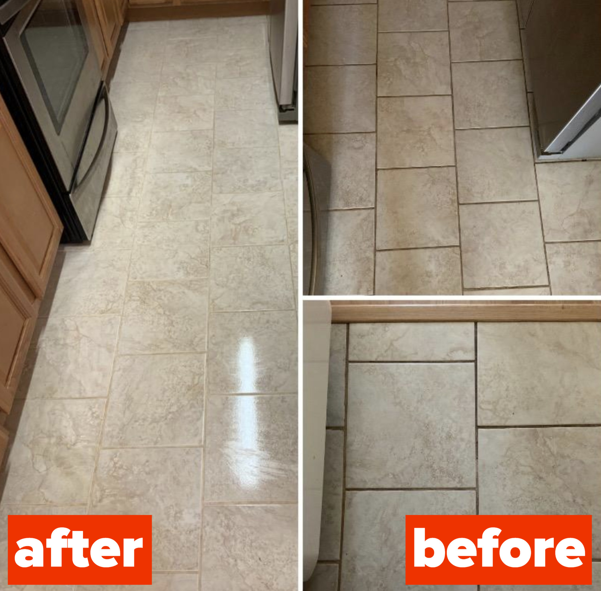 home cleaning products with before and