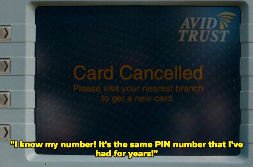 Card canceled