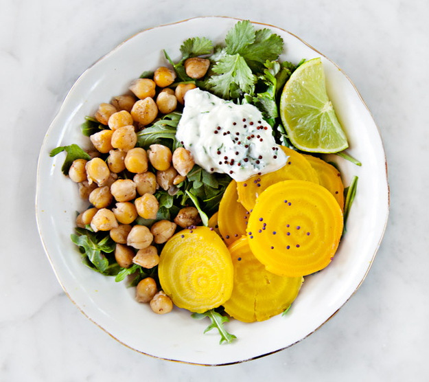 Thursday Lunch: Beet & Chickpea Salad
