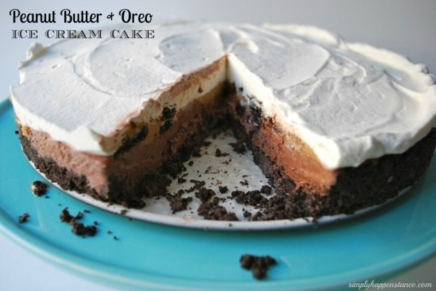 Peanut Butter + Oreo Ice Cream Cake