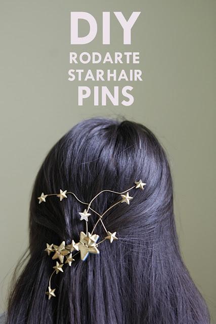 DIY Rodarte Star Hairpins