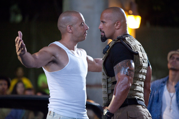 Dwayne's character in the Fast and Furious franchise was originally written to be for an older actor - but after a fan suggested that Dwayne and Vin Diesel be in a movie together, the part was rewritten for Dwayne.