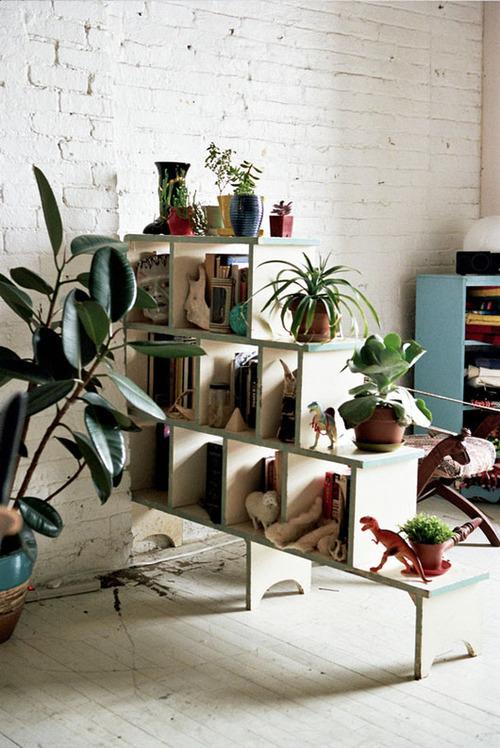 Functional Decor Plant Shelf Room Divider