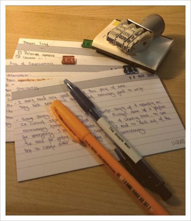 Before taking a test, write down all the relevant information you can think of on an index card, as though it were a piece of paper you were allowed to bring with you.