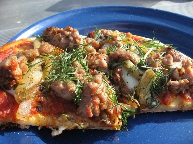 It takes a few steps, but anything with onions and Italian sausage has to be good. Recipe here.