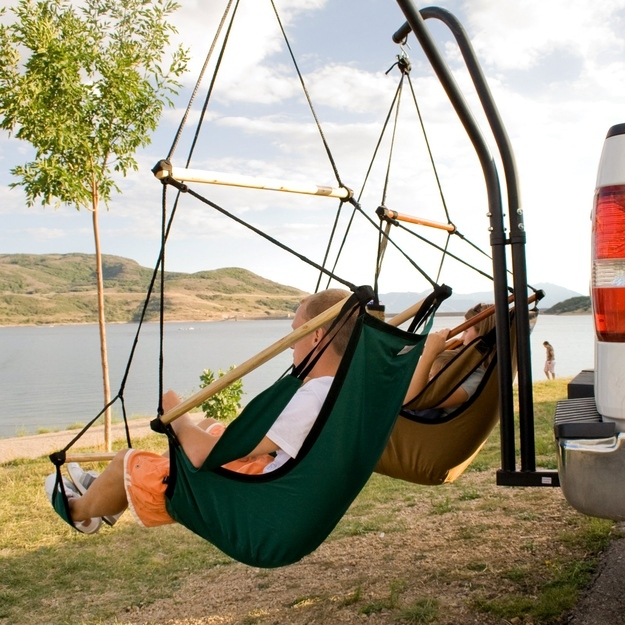 Get these seat hammocks for car camping.