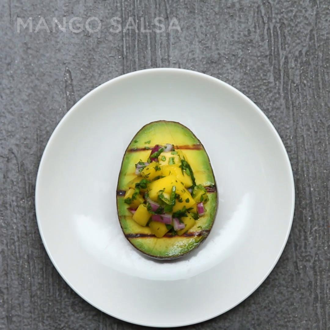 Mango Salsa-stuffed Avocado