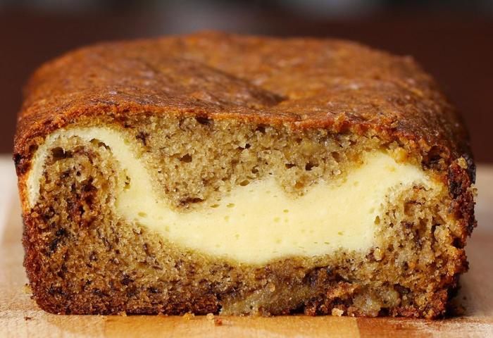 Cheesecake Filled Banana Bread Recipe By Tasty