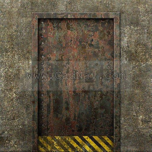 Concrete Rusty Metal Door Texture Image 519 On CadNav