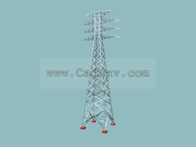 Power Transmission Tower 3d Model 3Ds Max Files Free