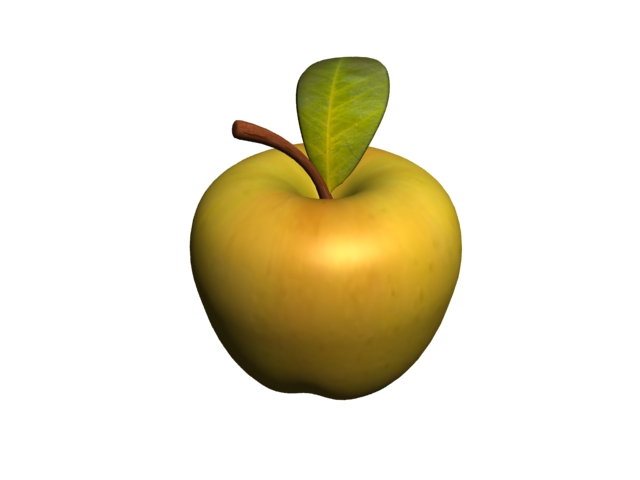 Apple And Leaf 3d Model 3dsMax Files Free Download
