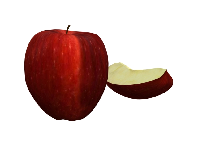 Red Delicious Apple With Slice 3d Model 3dsmax Files Free