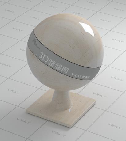 Cream White Travertine Limestone Vray Material