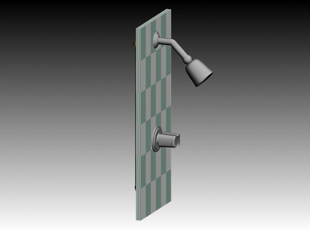 Simple Shower Faucet 3d Model 3dsMax3dsAutoCAD Files Free Download Modeling 18632 On CadNav