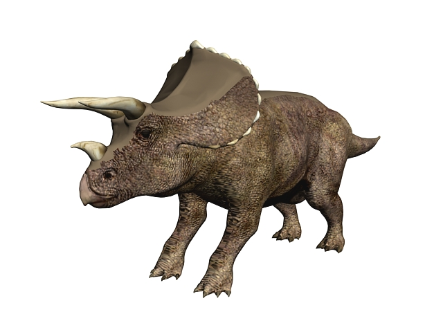 Triceratops Dinosaur 3d Model 3ds Max Files Free Download