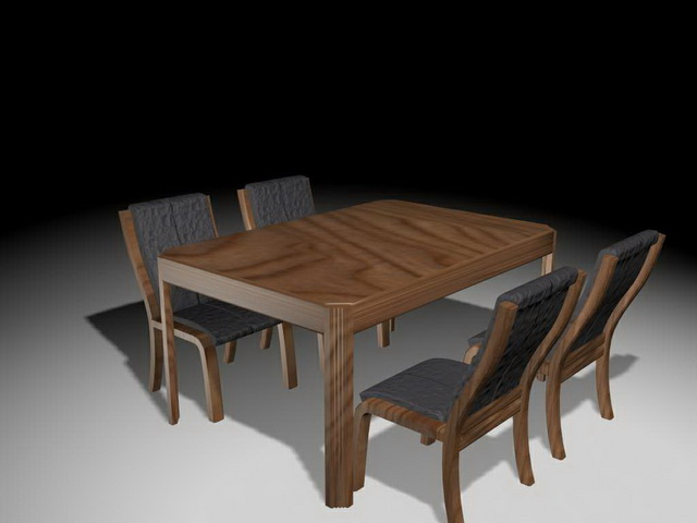 Rustic Dining Table Sets 3d Model 3ds Max Files Free