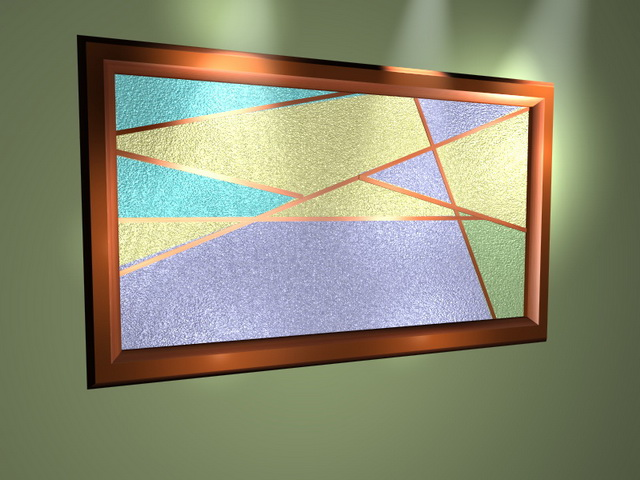 Abstract Painting Frame 3d Model 3D Studio3ds MaxDXF