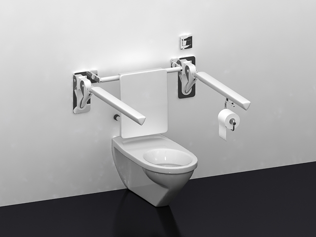 Handicapped Toilet 3d Model 3ds Max Files Free Download