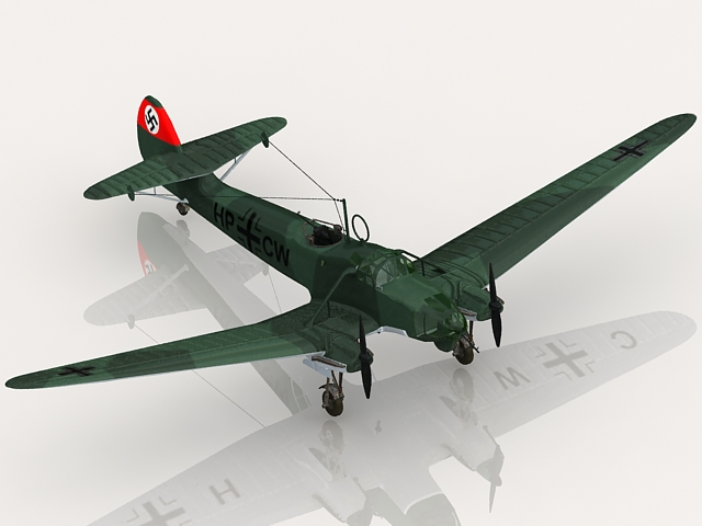 Fw 58 German Aircraft 3d Model 3ds Max Files Free Download