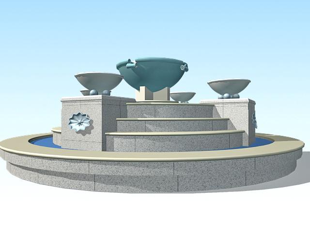 Large Garden Fountain 3d Model 3ds Max Files Free Download Modeling 33619 On CadNav