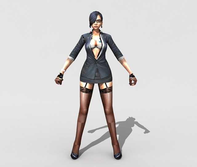 Low Polygon Rigged 3d Character Model Of Sexy Female Spy Agent Available 3d File Format Max Autodesk 3ds Max Texture Format Bmp Free Download This 3d