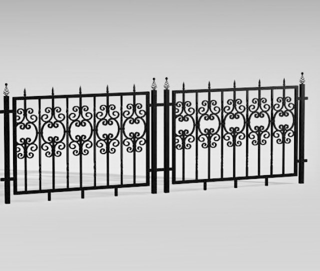 Antique Wrought Iron Fence D Model