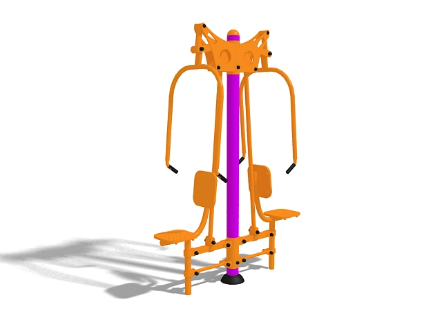Outdoor Fitness Equipment 3d Model 3ds Max Files Free
