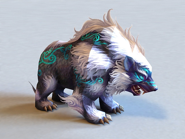 Mythical Bear Creature 3d Model 3ds Max Files Free Download Modeling 37668 On CadNav