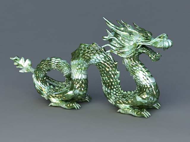 Chinese Jade Dragon 3d Model 3ds Max Files Free Download Modeling 38939 On CadNav