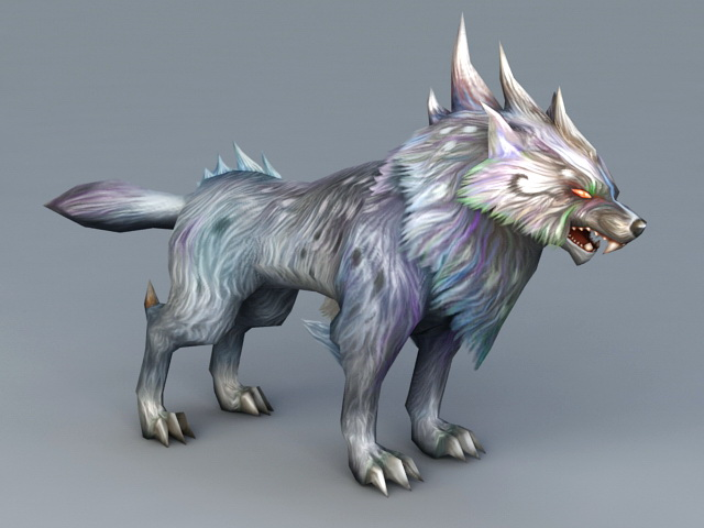 Magic Wolf 3d Model 3ds Max Files Free Download Modeling