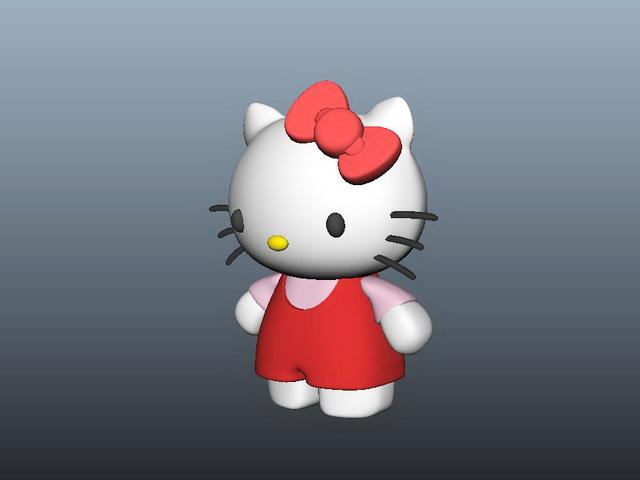 Hello Kitty 3d Model Maya Files Free Download Modeling