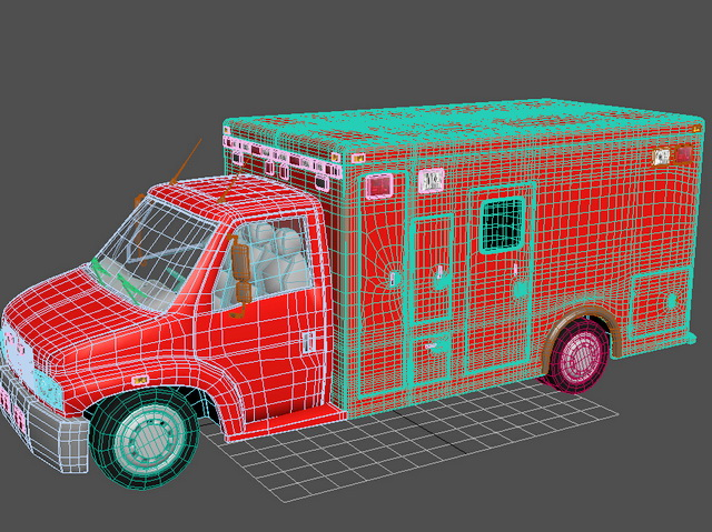 Red Fire Truck 3d Model 3ds Max Files Free Download